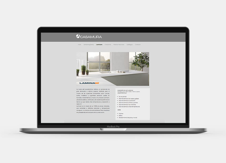 Sitio web Casamura